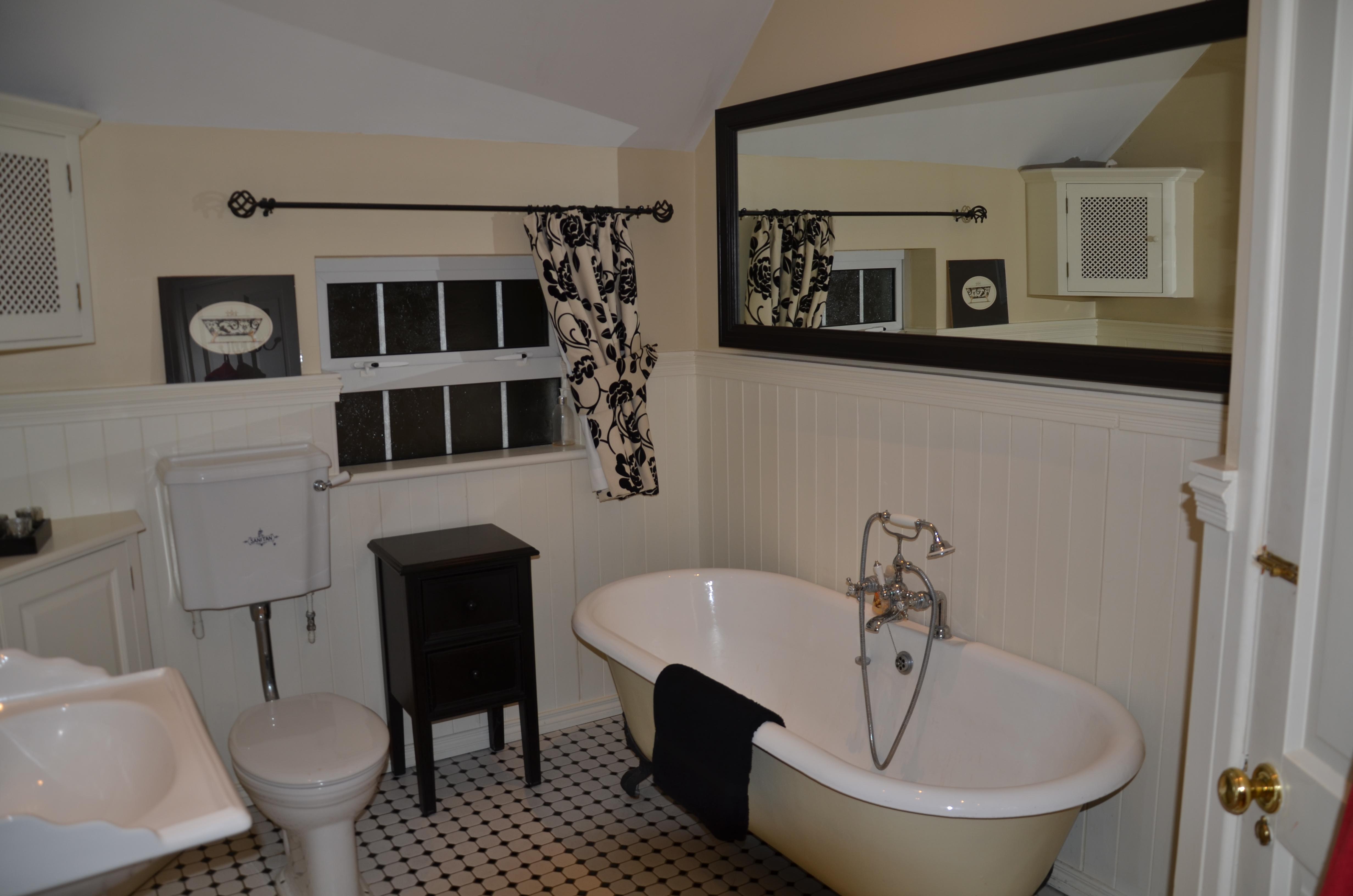 Cream Bathroom with Mirror