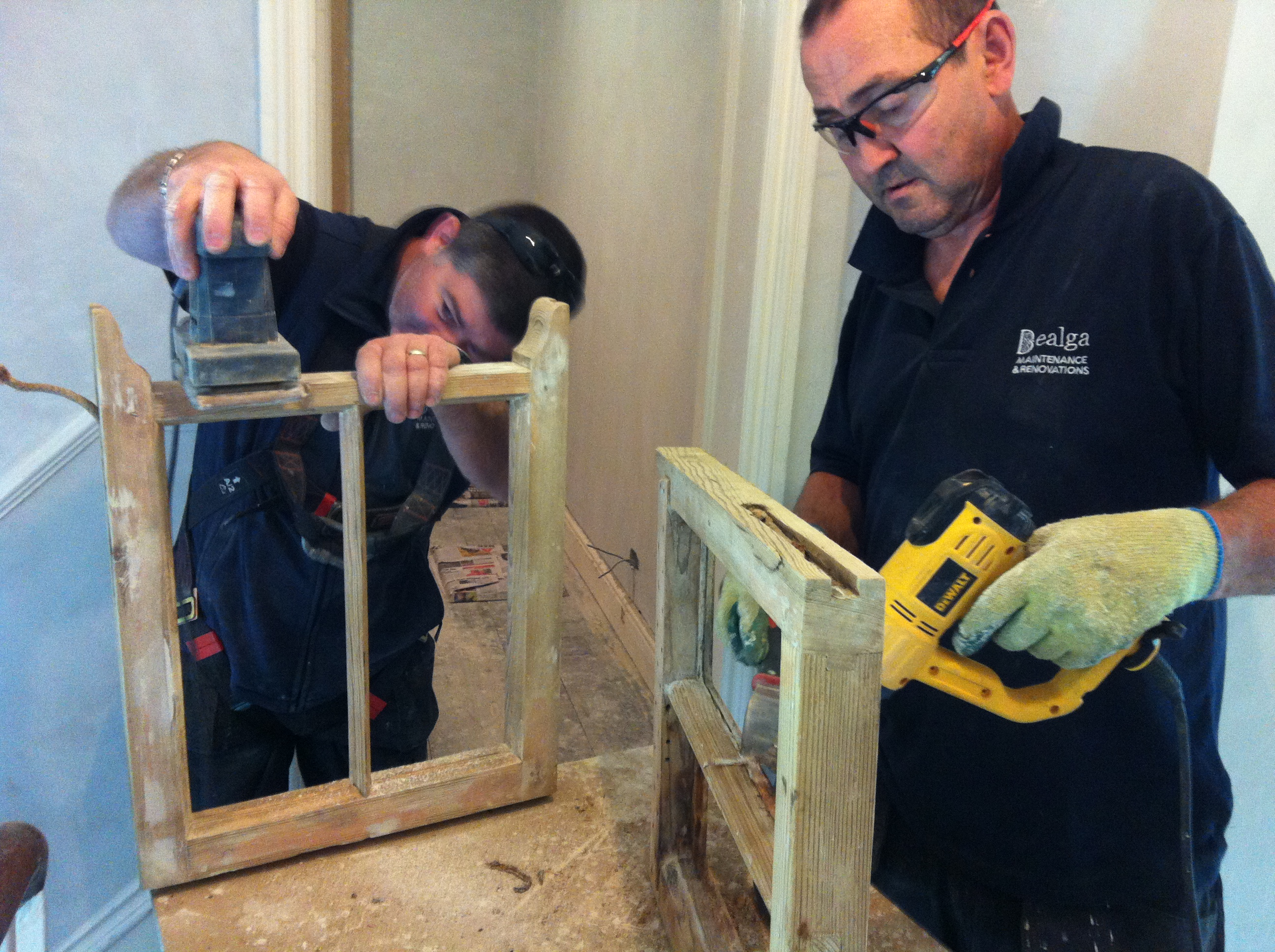Prepairing sash windows